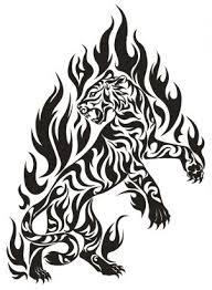 tribal tiger from itattooz