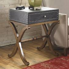 uttermost accent tables leather top end tables side tables hayneedle