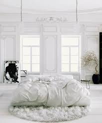 White Bedroom Rugs Sleek Elegant Black And White Bedroom Design Ideas With Round Rugs