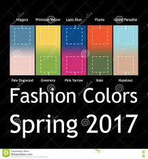 2017 Trending Colors by Blurred Fashion Infographic With Trendy Colors Of The 2017 Spring