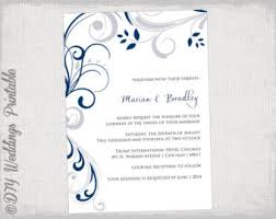 wedding invitation templates printable by diyweddingsprintable