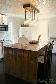 rustic kitchen island lighting kitchen renovation makeover progress before and after nest of bliss