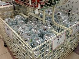 large disco balls bin of cheap mirror balls at the tree
