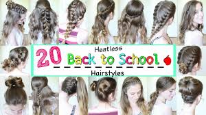 hair styles for back of 20 back to school heatless hairstyles 2016 school hairstyles