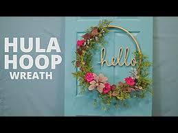 Wreath Diy Diy Floral Hula Hoop Wreath Hgtv Youtube