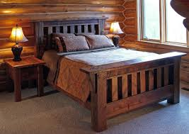 reclaimed wood rustic antique wood bed rustic bedroom other