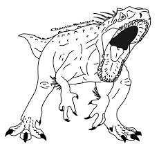 indominus rex lineart by chaotic science on deviantart