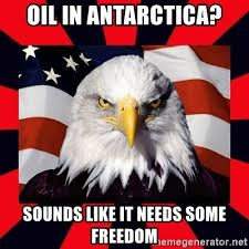 Freedom Eagle Meme - oil in antarctica sounds like it needs some freedom bald eagle