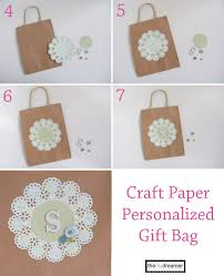 Paper Craft Steps - craft paper personalized gift bag the d i y dreamer