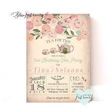 joint birthday tea party invitation tea for two invitation