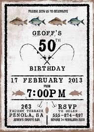 50th birthday invitations fishing theme google search