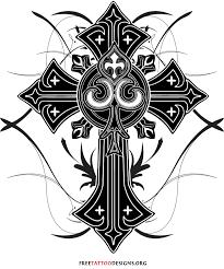 cross n praying jesus tattoo design photo 3 real photo