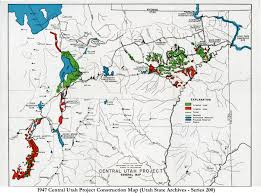 Utah State Parks Map by The Law Of The River The Central Utah Project U2013 Researching The