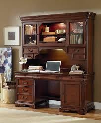 ashland credenza desk with hutch cherry american signature ideas