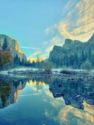 768x1024 calming yosemite national park ipad wallpaper