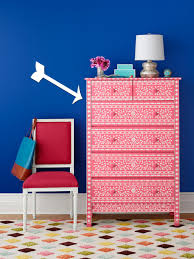 how to paint a dresser with stencils hgtv