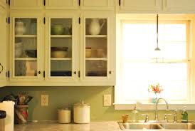 How To Make Kitchen Cabinet Doors With Glass Between Blue And Yellow Kitchen Update Glass Cabinets