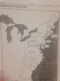 The Thirteen Colonies Map Northpointe Intermediate