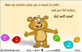 kids get well soon my gives you a reason to smile and you feel better