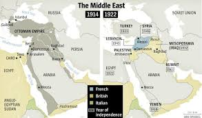 Ottoman Empire In Wwi Map Of Ottoman Empire Vs Map Of Middle East Chapter 1 Iraq And
