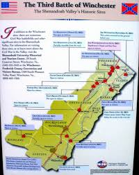The 606 Map Battle Of Winchester Union Confederate Army Position Map