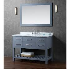 bathroom metal sink cabinet vanity corner modern floating