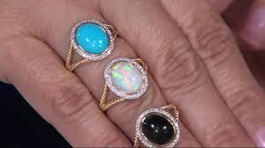 turquoise opal sleeping beauty turquoise onyx or ethiopian opal u0026 diamond ring