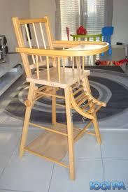 chaise haute bebe bois chaise haute en bois annonce pour bébé pamiers ariège 09
