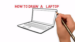 laptop how to draw a laptop computer easy sketch drawing video