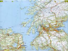 Map Of Scotland And England Road Map Of England And Scotland You Can See A Map Of Many