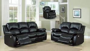 Power Reclining Sofa Set Homelegance Cranley Power Reclining Sofa Set Black 9700blk Power