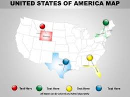 united state of america map ppt samples download templates