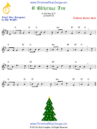 o christmas tree for french horn free sheet music