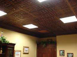 Recessed Lighting For Drop Ceiling by Ceiling Mesmerizing Interior Home Design With Faux Tin Ceiling
