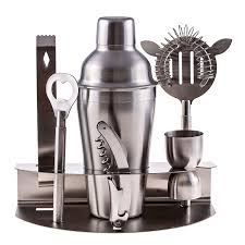martini mixer 7 pc stainless steel bar tool set cocktail with and sdl464292746 1