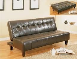 Leather Click Clack Sofa Adjustable Sofa Bed Bicast Leather Futon
