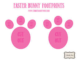 how to make easter bunny footprints easter bunny and easter