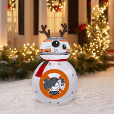 wars christmas decorations 4ft gemmy christmas airblown wars bb 8 reindeer ears