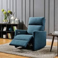 prolounger caribbean blue linen push back recliner chair free