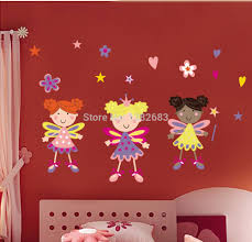 compare prices on fairy wall decals stickers online shopping buy cartoon tinker bell fairy removable wall decals stickers nursery kids room decor mural art sticker jm8194