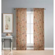 Geometric Orange Curtains Geometric Rust Curtains U0026 Drapes Window Treatments The
