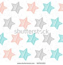 Design Patterns For Cards Pastel Star On Black Seamless Background Stock Vector 568499173