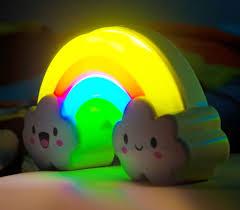 night light sound sound touch sensor rainbow night light clc imports