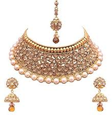 colour gold necklace images Buy sitashi multi colour gold plated kundan necklace set for women jpg