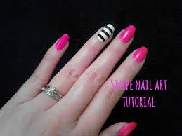 diy easy stripe nail art tutorial chic black and white stripes