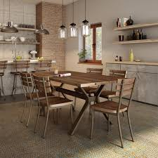 Industrial Dining Room Tables 17 Stories Darcelle 5 Industrial Dining Set Reviews Wayfair