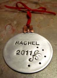 small christmas ornament personalized with name date and