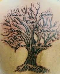 image result for tree of family tats
