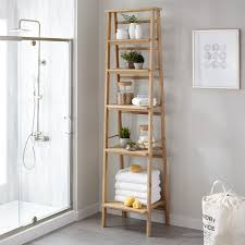 Bathroom Storage Ladder Oversized Ladder Style Teak Bathroom Shelf Bathroom