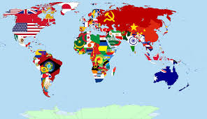 1914 World Map by Atlas World Map With Flags